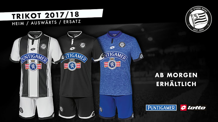 Sturm Graz 17 18 Home Away Third Kits Released Footy Headlines