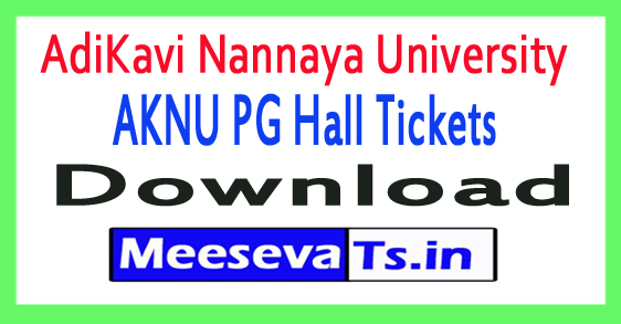 AdiKavi Nannaya University AKNU PG Hall Tickets Download 2017