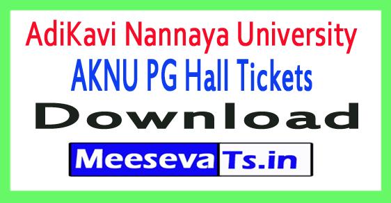 AdiKavi Nannaya University AKNU PG Hall Tickets Download 2018