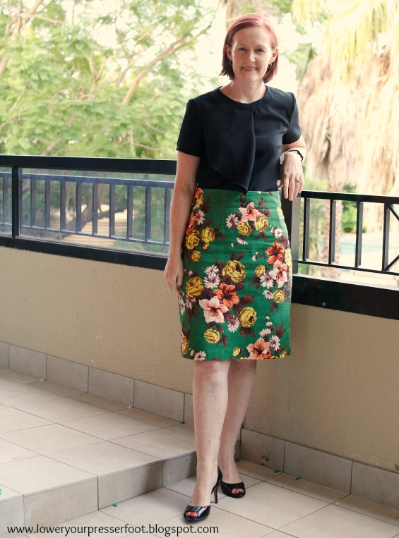 pencil skirt in Outback Wife Gertrude Made fabric