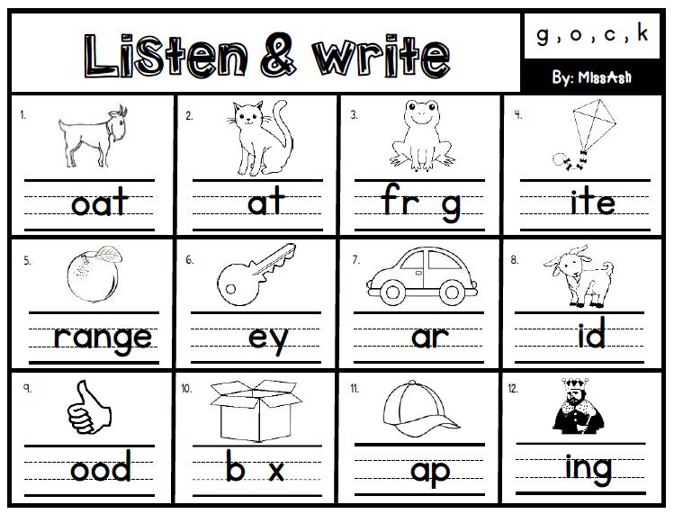 ASH THE TEACHER: Listen & Write Phonics Module
