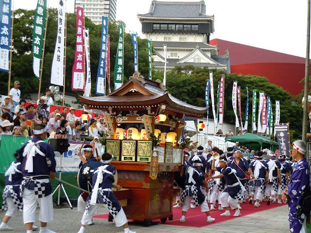 Gion Daiko (dynamic rhythm of drums festival), Kokura, Kita-Kyushu City, Fukuoka