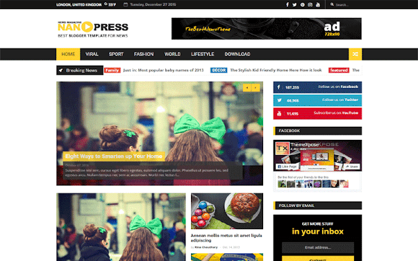 NanoPress Free Blogger Template
