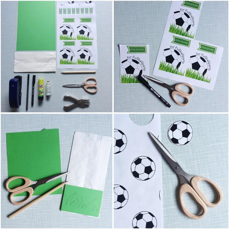 Frollein Pfau Diy Einladungskarten Zur Fussballparty