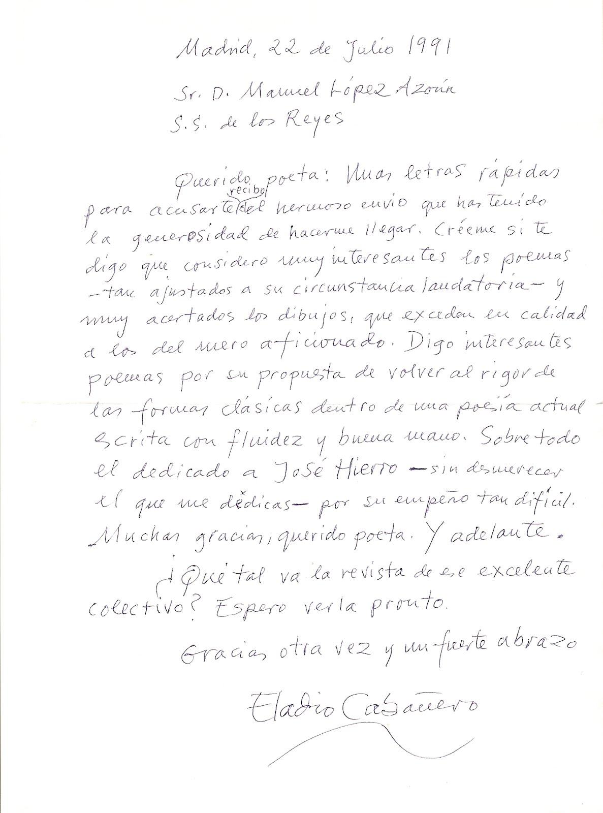 blog del poeta Manuel López Azorín: Eladio Cabañero: El poeta ...