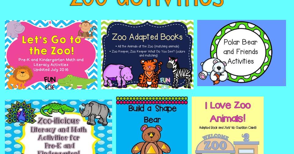 Zoo Activities | Fun in ECSE
