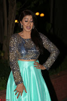 Nikki Galrani in Green Skirt  Top at Marakathamani music launch ~  Exclusive (19).JPG