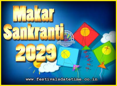 2029 Makar Sankranti Puja Date & Time, 2029 Makar Sankranti Calendar