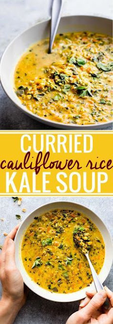 Curried Cauliflower Kale Soup