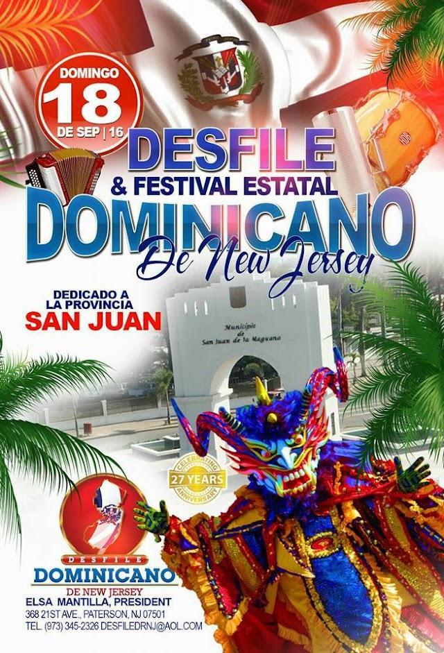 Dedican Desfile en New Jersey Provincia San Juan