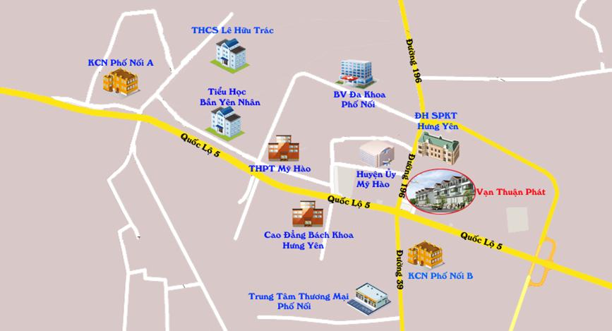 Vị trí dự án Vạn Thuận Phát