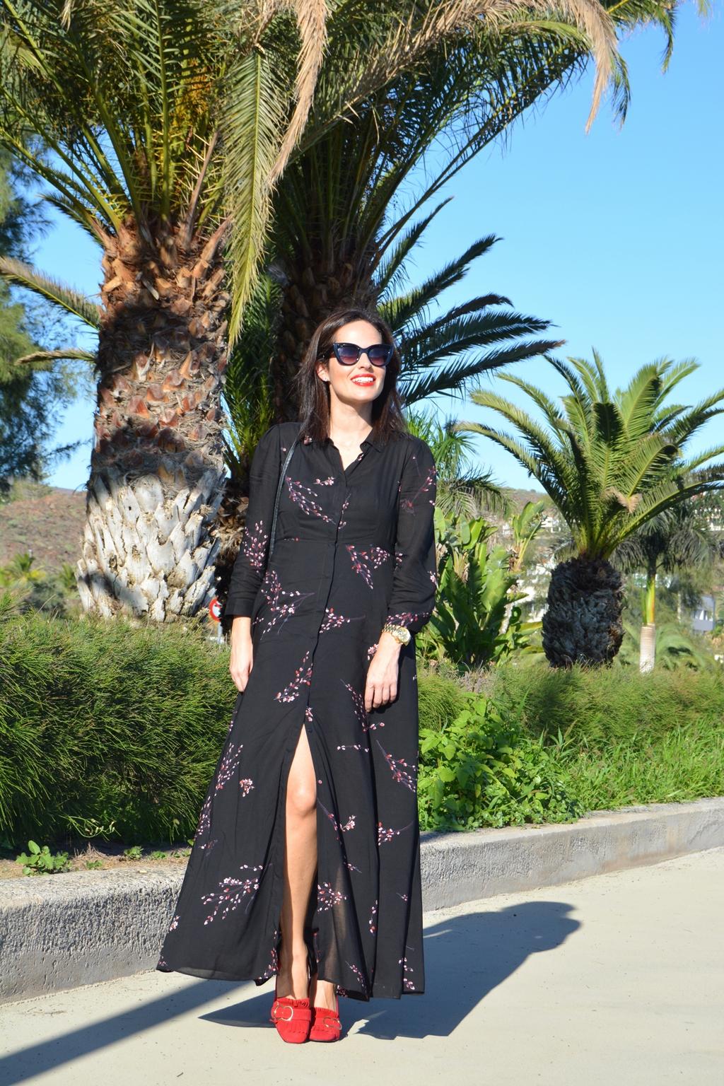 outfit-zara-long-dress-flowered-look
