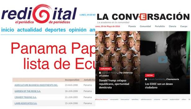 La actualidad del país contrastada desde una perspectiva académica en dos portales ecuatorianos