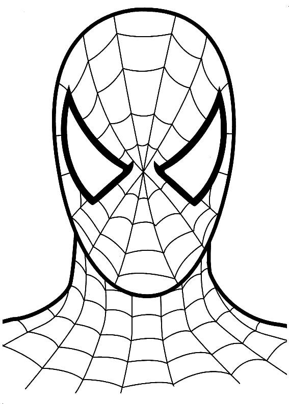 развитие ребенка раскраски человек паук Spiderman