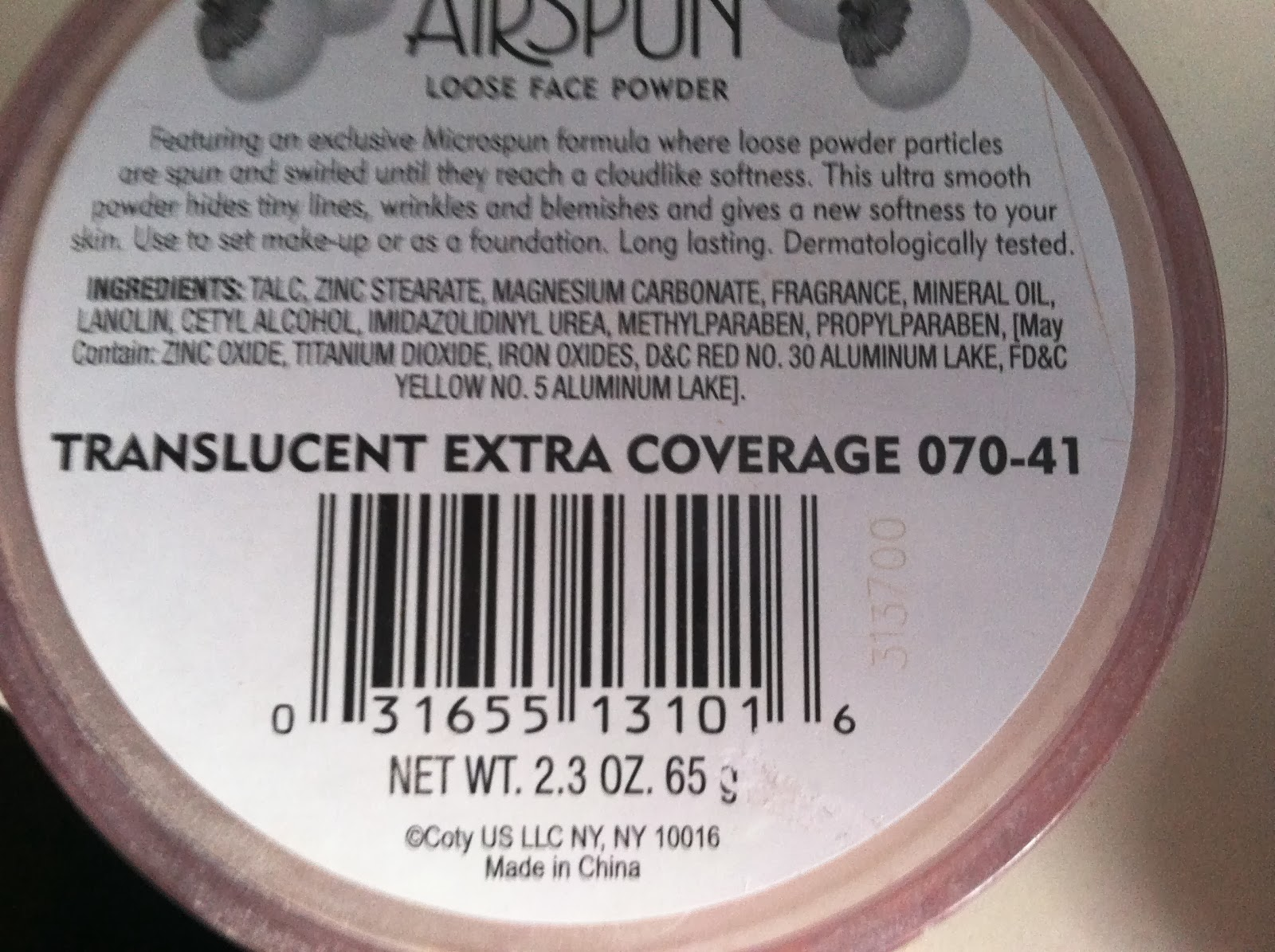 airspun translucent powder cvs
