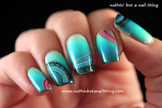water decal gradient nail art