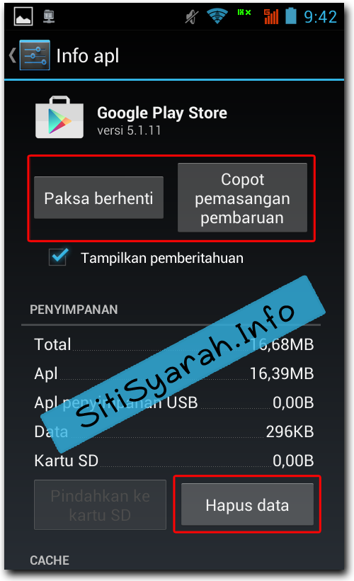 Solusi Android Error 927 Playstore