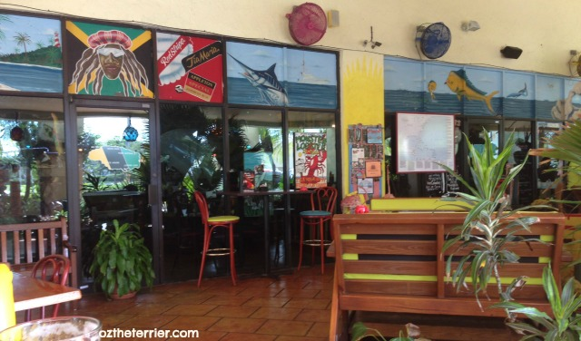 dog-friendly outdoor patio at Muddy Waters restaurant in Deerfield Beach, Florida