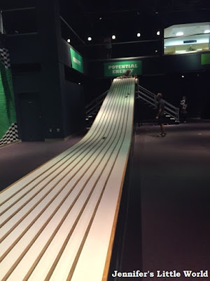 Long ramp for racing cars at the Orlando Science Center