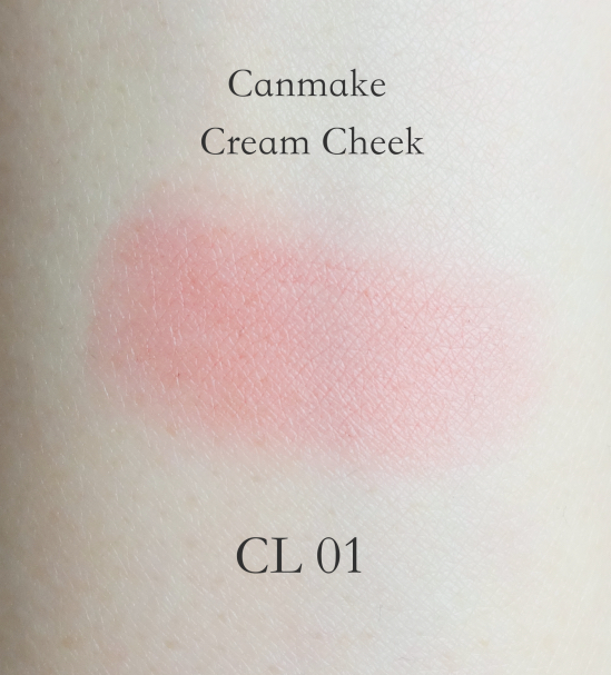Canmake Cream Cheek Clear Red Heart swatch
