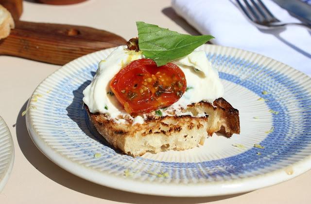 A picture of Jamie's Italian Tomato, Ricotta & Basil Bruschetta