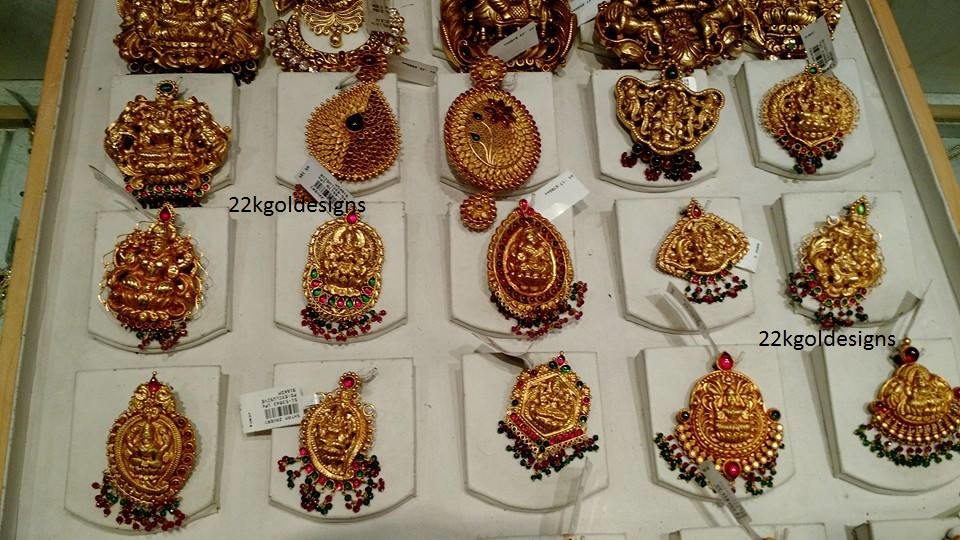Lakshmi pendant archives page 5 of 6 22kgolddesigns temple nakshi pendants collection in gold mozeypictures Choice Image