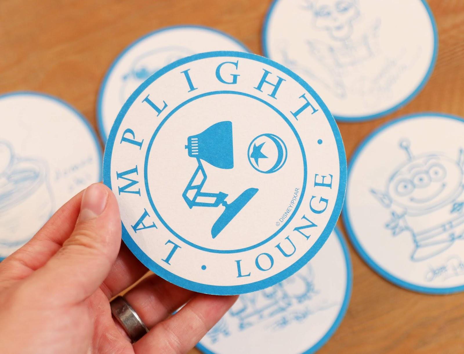Pixar Pier Lamplight Lounge Coasters