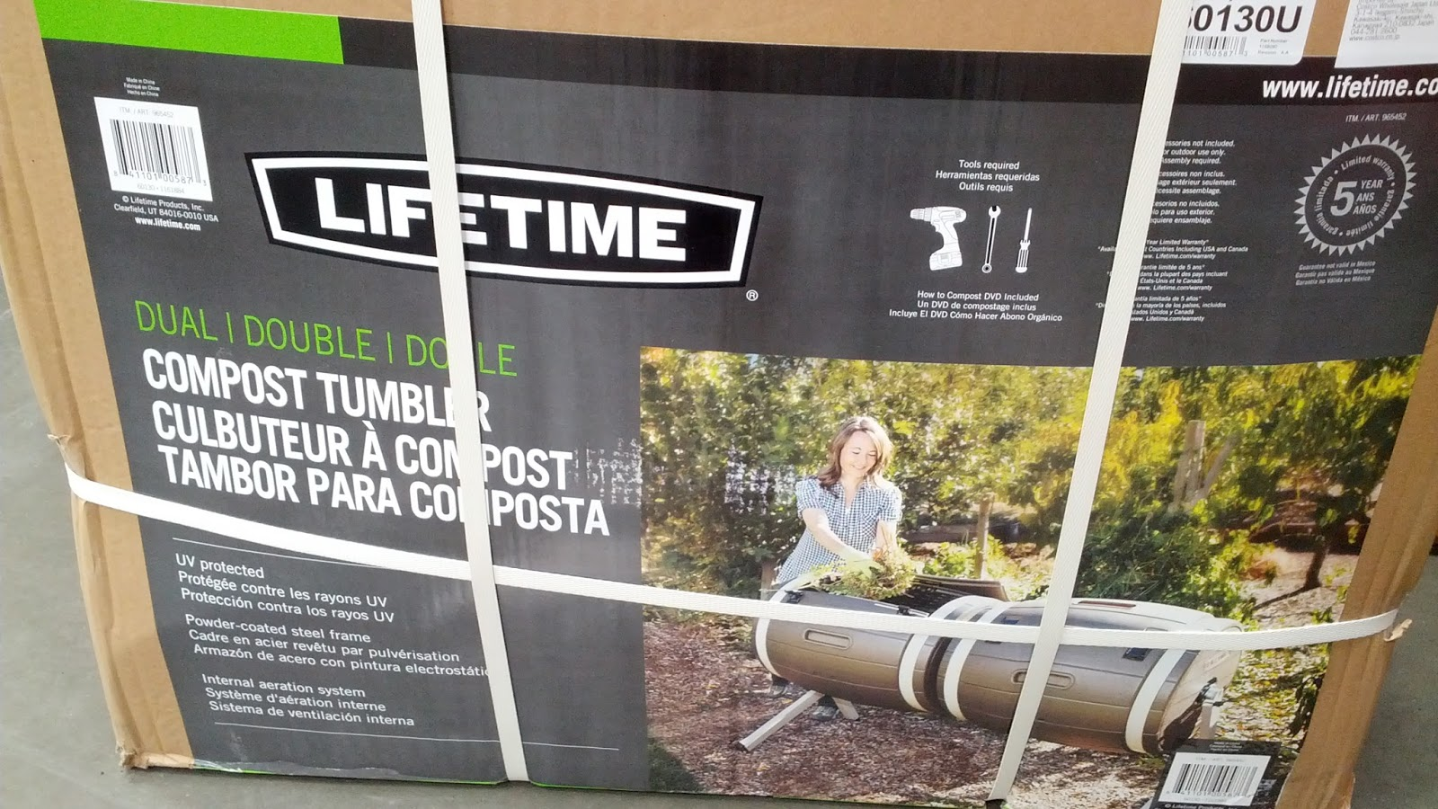 Save The Environment With Lifetime Dual Compost Tumbler