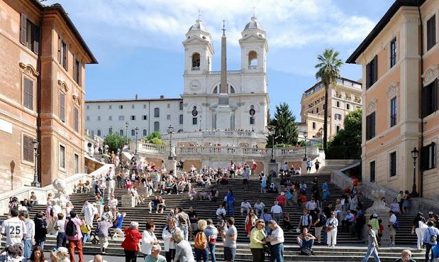 Muito tempo de viagem por Roma