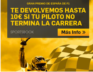 betfair GP F1 España si tu piloto no termina devolucion 13 mayo