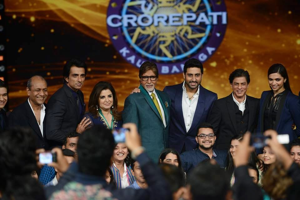 Happy New Year (HNY) Star cast visits KBC with Amithabh to promote their movie