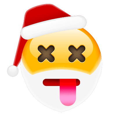 X-Eyes Santa Emoji