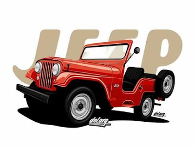 mobil vektor jeep