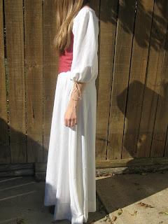 fidelia's costumes fidelia's white dress and red corset