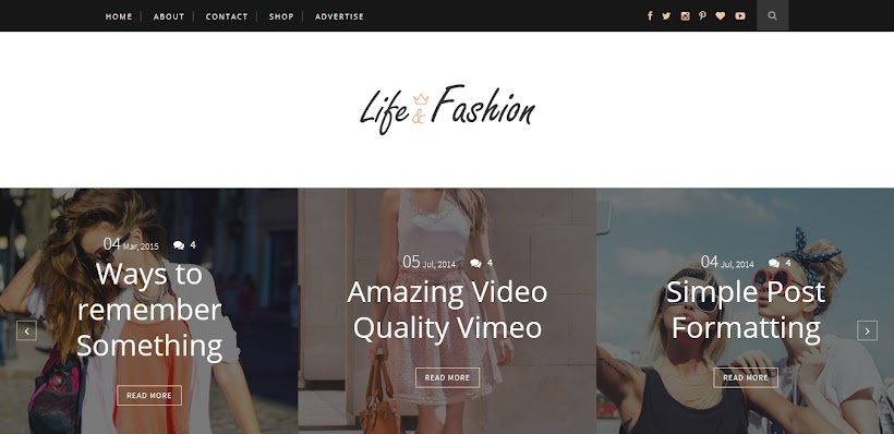 Life-Fashion Free Blogger Template