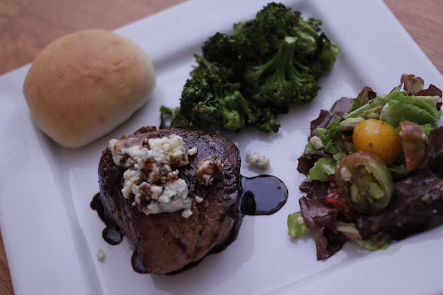 Seared Filet with balsamic reduction