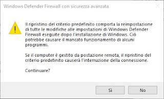 Restore Firewall