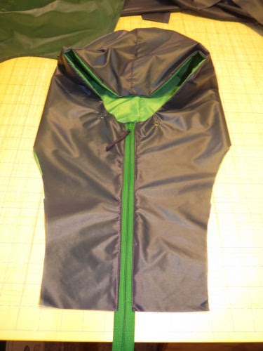 hood assembly for a nylon jacket