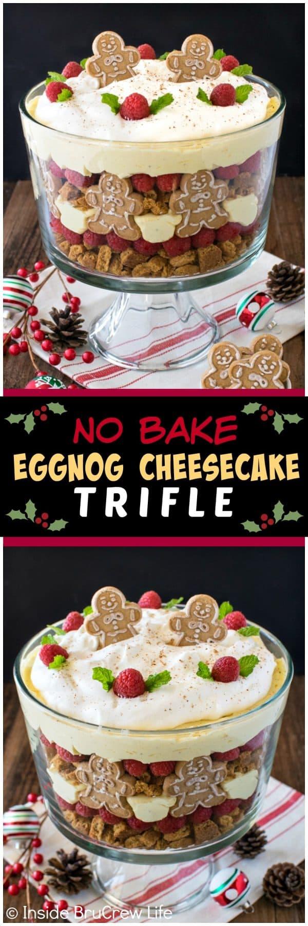 No Bake Eggnog Cheesecake Trifle Recipe