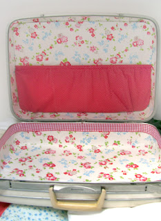 Vintage+Suitcase+Cath+Kidston+Fabrics+DIY Vintage Suitcase | DIY Reupholstered Samsonite Suitcase with Cath Kidston Wallpaper