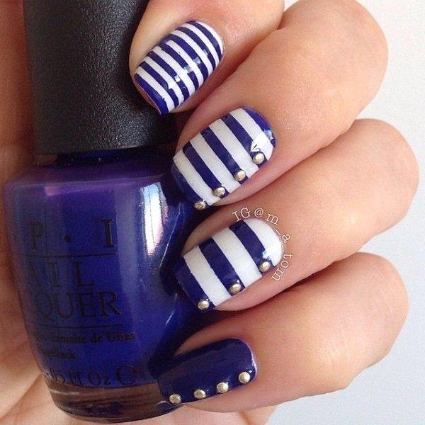 Royal Blue Nail Art Designs 2016 Fashion Newbys