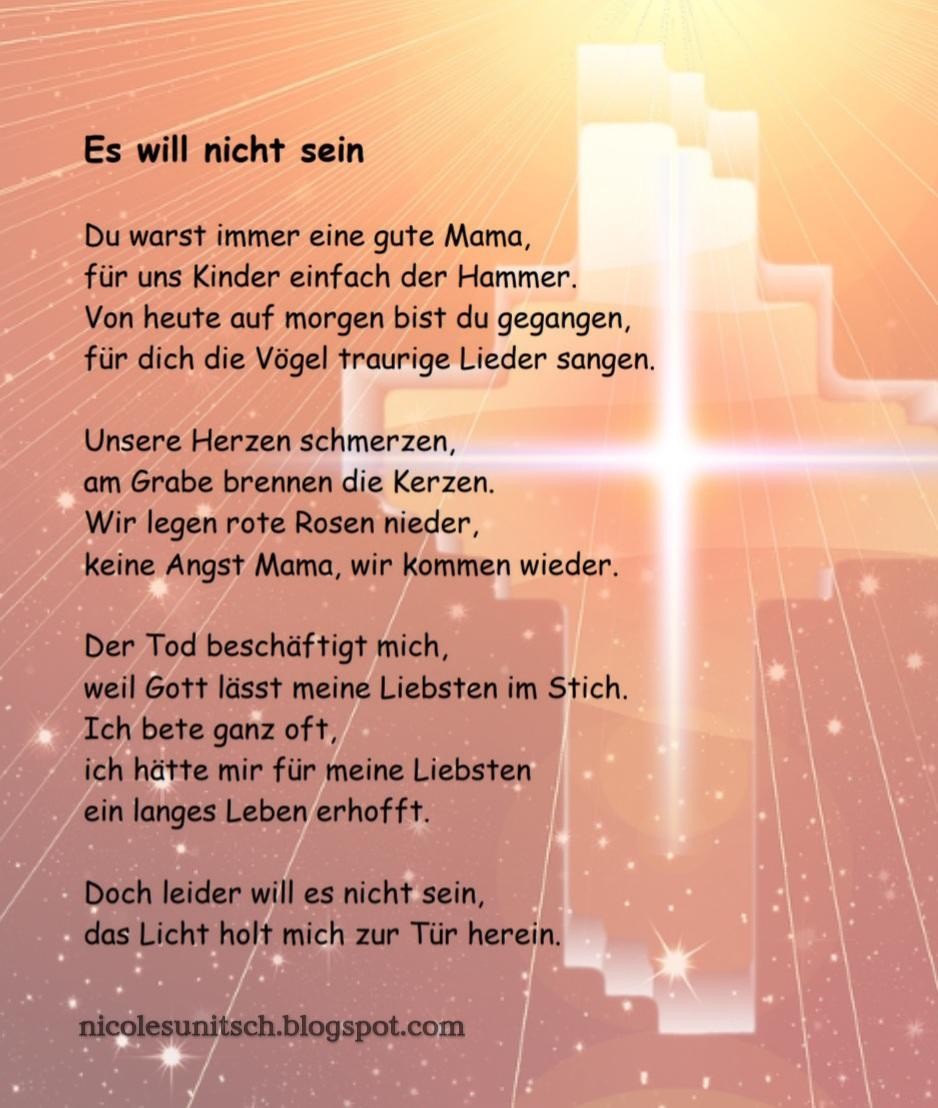 Gedichte Von Nicole Sunitsch Autorin Es Will Nicht Sein