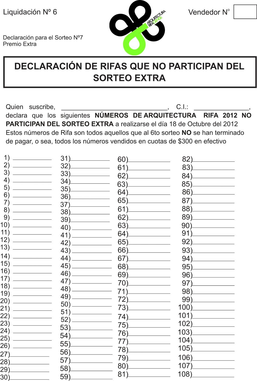 Arquitectura Rifa Gen06 Declaracion Jurada
