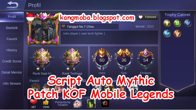 Download Script Auto Mythic Patch KOF Mobile Legends - KangMoba