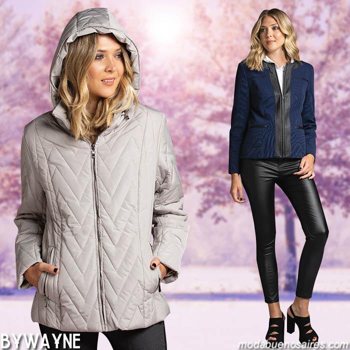Camperas invierno 2019 casual chic estilo femenino.