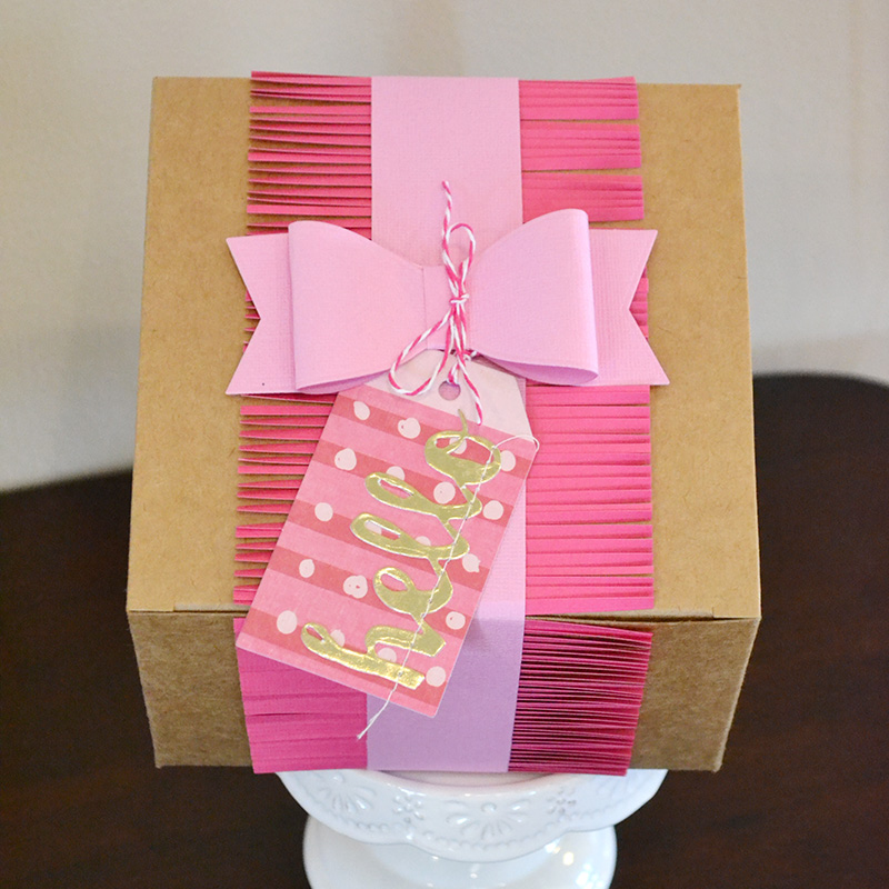Gift Box Wedding Invitations: Aly Dosdall: Paper Fringe Wedding Invitations, Gift Box