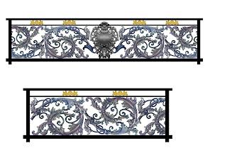 Desain Railing Balkon Besi Tempa
