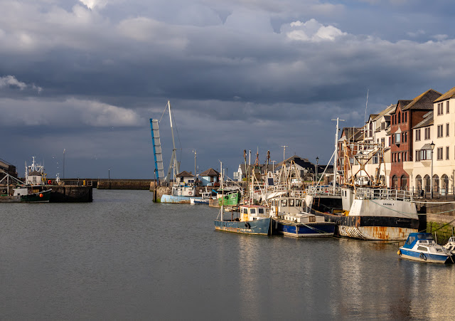 Photo of a wider view of Maryport Harbour