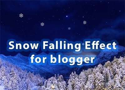 Christmas Snowfall Animation Effect to Blooger with jQuery