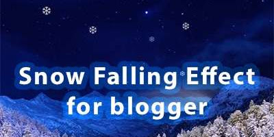 Add Christmas Snowfall Animation Effect to Blooger with jQuery